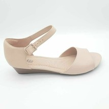 Collection By Clarks Womens Abigail Jane Sandals Pink Wedge Leather 10 M New - $29.68