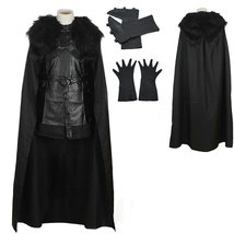 Game of Thrones Jon Snow Night's Watch Crow Black Cosplay Costume - $114.39