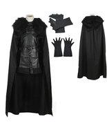 Game of Thrones Jon Snow Night's Watch Crow Black Cosplay Costume - $114.39