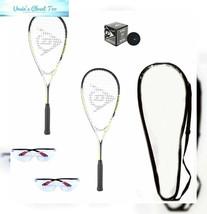 DUNLOP Beginner Squash Racquet Set (Includes 2 Racquets, 2 Eyeguards, 1... - $134.33