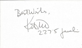 Kate The Great Schmidt Signed 3x5 Index Card - $18.58
