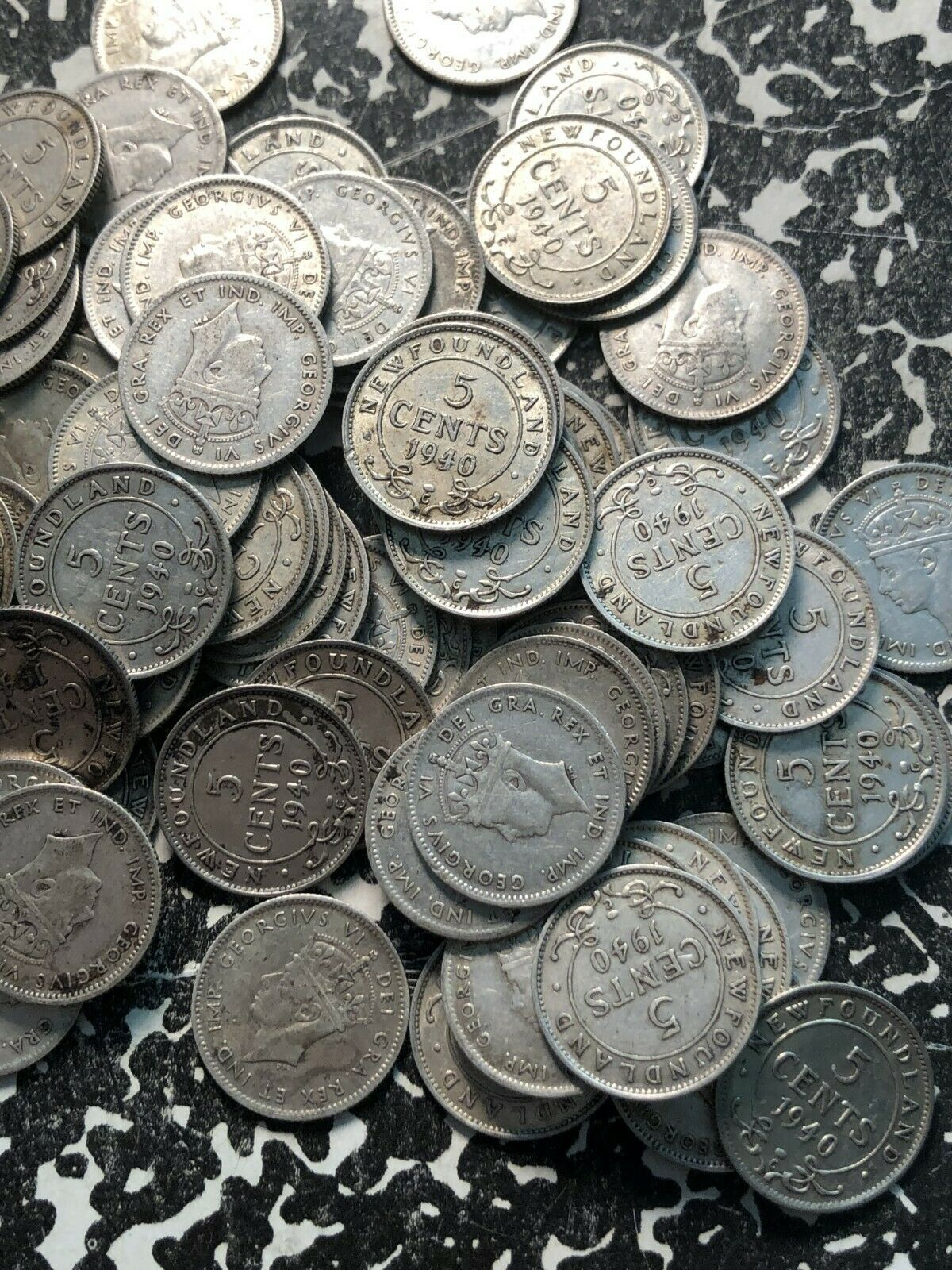 Circulated 1941-C Newfoundland 5 Cent Silver! Many Available 1 Coin Only
