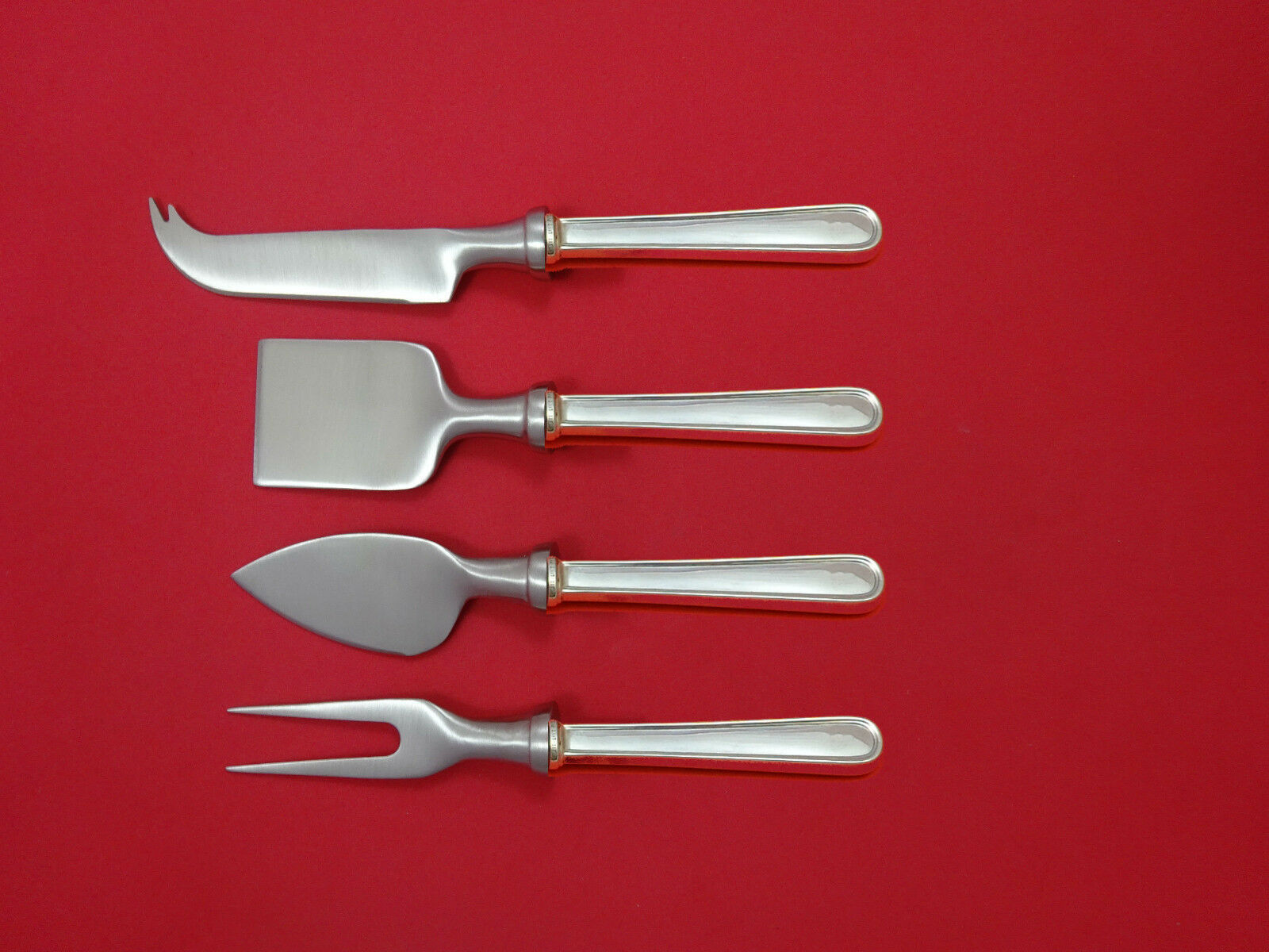 Primary image for Calvert by Kirk Sterling Silver Cheese Serving Set 4 Piece HHWS  Custom