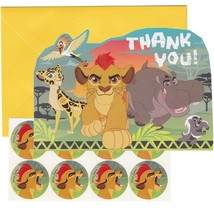 Lion Guard Birthday Party Thank You Cards with Envelopes and Seals 8 Per... - $3.91