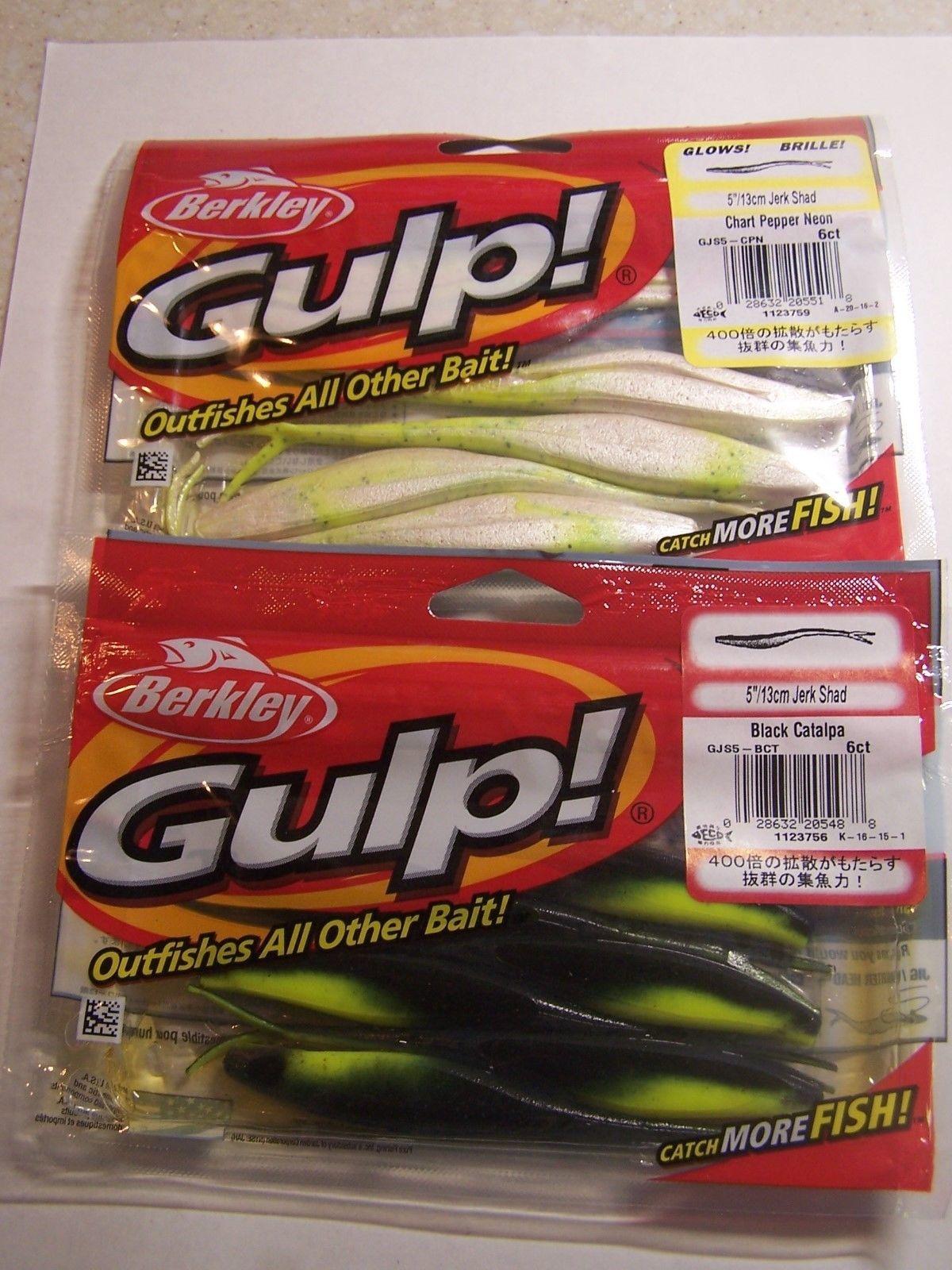 2 Pkgs Gulp Jerk Shad 2 colors 5 inch Bass and 17 similar items
