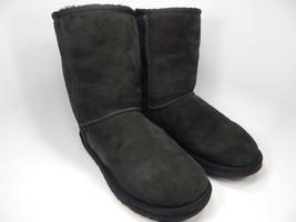 UGG Australia Classic Short Sheepskin Black Boots Size: 9 M (B) EU 40 Model 5825