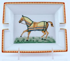 'Hermes Equestrian French Porcelain Ashtray' - $750.00