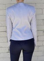 Giorgio Armani Black Label Raise Stripe Silver Grey Jacket Womens 38 Italy image 5