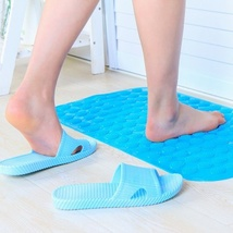 Large bright color sucker bathroom mats, shower non-slip massage pads - $19.00