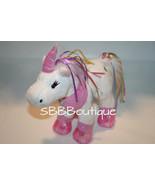 """Webkinz RIBBON UNICORN 9"""" Pink White Plush Stuffed Animal Ganz  No Code ... - $11.62"""