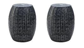 "2 BLACK MOROCCAN LACE Decorative Plant Stands or Low Side Table 14"" High - $74.62"