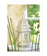 """Lot of 20 White Moroccan Candle Lanterns Chic Wedding Centerpieces 12"""" H - $256.99"""