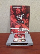 WWF Attitude (Nintendo 64, 1999) works! Fast shipping, the rock! Stone c... - $9.27