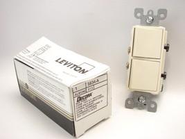 Leviton 5634-A Decora® Single Pole AC Combination Switch 15A Spec. Almond (B491) - $4.94