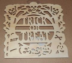 "Halloween Wooden Plaques Crafts Creatology 8"" x 8"" Skulls Trick Or Treat... - $3.49"