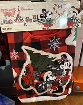 Disney Parks Tis the Season to Be Jolly 48 inch Tree Skirt Christmas Mic... - $106.90