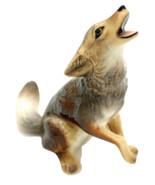 Vintage Hagen Renaker Coyote 1986 Miniature Porcelain Figurine Wolf Howling - $45.00