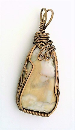 Primary image for Tahoma Jasper Bronze Copper Wire Wrap Pendant 10