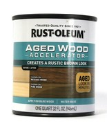 1 Can Rust-Oleum 32 Oz Aged Wood Accelerator 330614 Aged Wood Rustic Bro... - $21.99