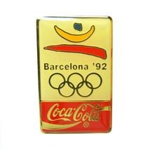 Barcelona 1992 Summer Olympic Coca-Cola Coke Gold Tone Lapel Pin - $16.82