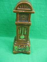 Vintage 1970 Ezra Brooks Kentucky Bourbon Grandfather Clock Decanter 24K... - $27.07