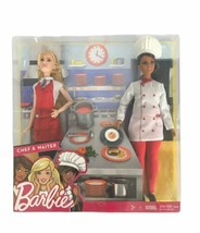 "New~BARBIE~2 DOLL SET~""You Can Be Anything"" Careers CHEF & WAITER~ NIB - $15.44"
