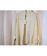 NWT Jessica Simpson XL Ivory Gold Metallic Buttonless Cardigan Sweater O... - $37.99