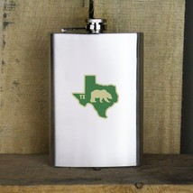 Original I Bear Texas Golden Classic University Style Stainless Steel Flask - $19.79