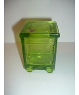 Westmoreland Penny Trust Candy Container in Green Glass - $29.99