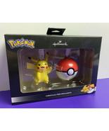 Pokemon Pikachu and Pokeball Hallmark Christmas Ornaments Set 2019 NEW N... - $19.79