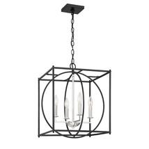 Quoizel Lighting-CSW5204EK-Crosswise - Four Light Foyer  Earth Black Finish - $349.99