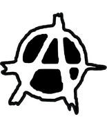 Anarchy punk vinyl Self Cling Window sticker 120x125mm Crass Conflict cl... - $4.07