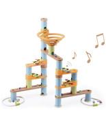 Fat Brain Toys Bamboo Builder Marble Run Plus Music 127 Piece Girl Boy C... - $79.19