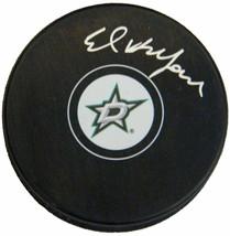 Ed Belfour Signed Dallas Stars Nhl Logo Hockey Puck - Schwartz - $88.11
