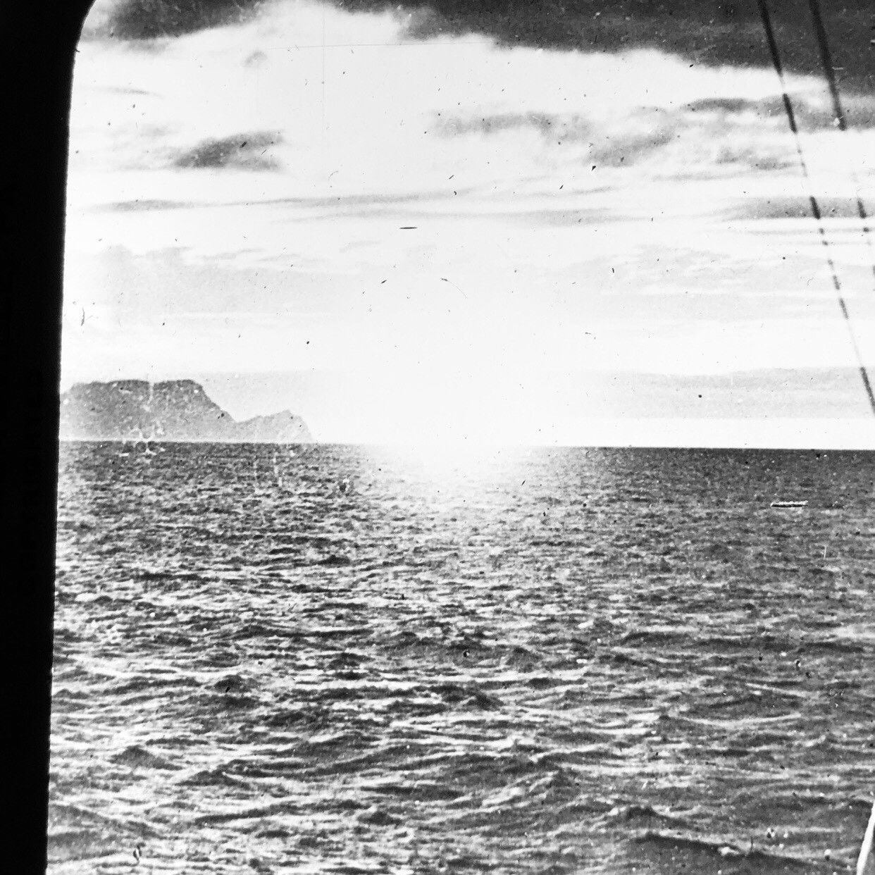 Vtg Keystone Magic Lantern Glass Slide Photo Norwegian Midnight Sun Sea