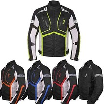 Motorcycle Jacket For Men Cordura Motorbike Racing Biker Riding Breathab... - $67.66