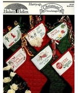 Hurry-Up Christmas Stockings 6 Designs Cross Stitch Pattern Leaflet - $3.57