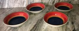 Multi-Colored Cereal Soup Salad Bowls Set of 4-Royal Norfolk-New-RARE-SHIPN24HRS - $40.98