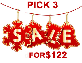 Mon - Tues Holiday Flash Sale! Pick Any 3 For $122 Best Offers Discount - $244.00