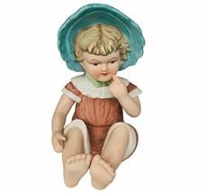 "Piano Baby 1960 Babies figurine 9"" antique vtg girl bonnet ceramic sculp... - $67.68"