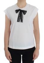 Dolce & Gabbana White lace cotton cap sleeve blouse - $242.91