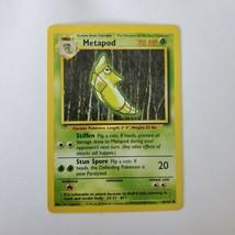 Pokemon Base Set 1999 Metapod Card LP 54/102 TCG Trading Card Game Unlimited - $1.24