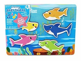 Cardinal Industries 6053347 Pinkfong Baby Shark Chunky Wooden Sound Puzz... - $24.99