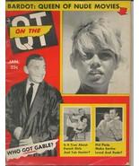 ORIGINAL Vintage January 1958 On the QT Magazine Brigitte Bardot Clark G... - $29.69