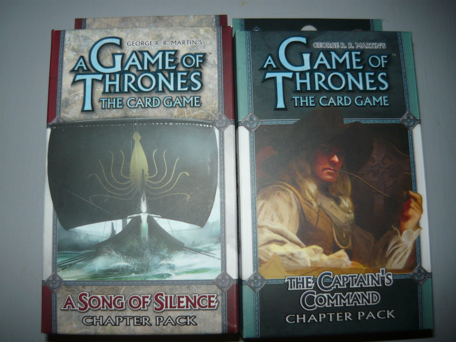 A Game of Thrones chapter pack lot of 2 a song of silence the captains command