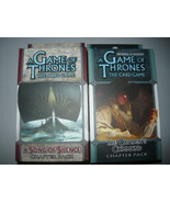 A Game of Thrones chapter pack lot of 2 a song of silence the captains c... - $10.98