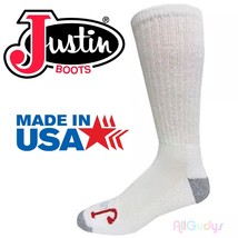 Justin Half Cushion OTC Socks 3 Pack    Large 9-12 - $218,73 MXN