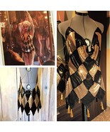 Custom Harley Quinn Nightclub Dress, Harley Quinn Gold Sequin Dress Club... - $125.00