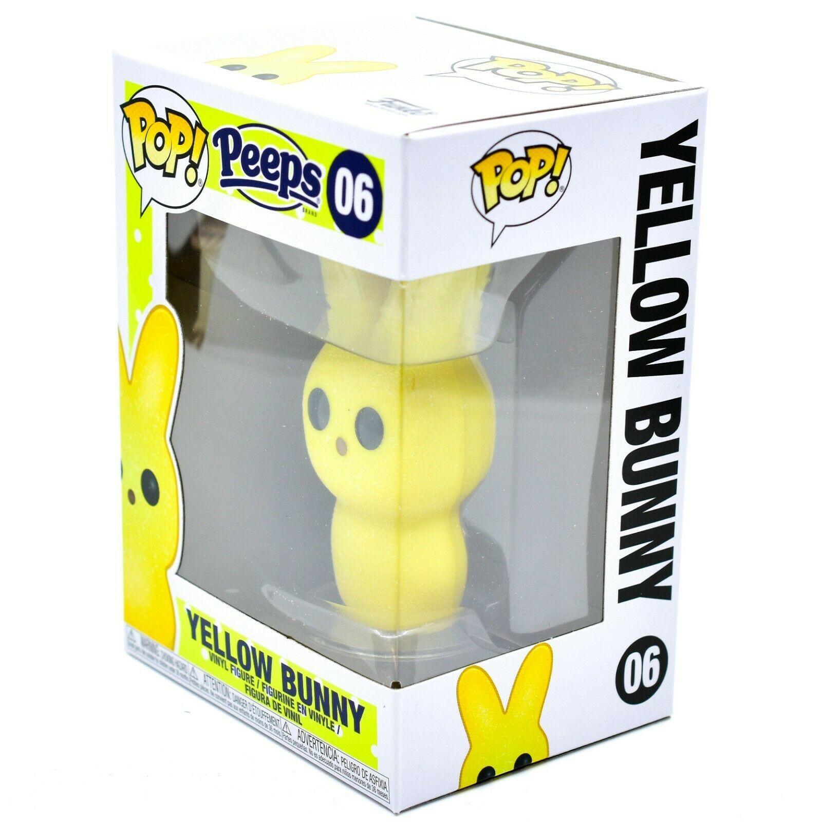 Funko Pop! Peeps Yellow Bunny #06 Easter Candy Theme Vinyl Action Figure