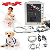 Veterinary ICU Patient Monitor VET Vital Signs Monitor SPO2 NIBP PR CMS5... - $395.01